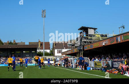 London UK 21 September 2019 -  The Sky Bet League One football match between AFC Wimbledon and Bristol Rovers at the Cherry Red Records Stadium - Editorial use only. No merchandising. For Football images FA and Premier League restrictions apply inc. no internet/mobile usage without FAPL license - for details contact Football Dataco. Credit : Simon Dack TPI / Alamy Live News - Stock Photo