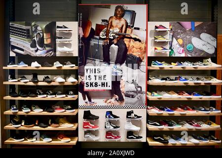 Vans shoes displayed in the Vans store, NYC, USA - Stock Photo