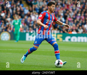 London, UK. 22nd Sep, 2019. Crystal Palace's Joel Ward during English Premier League between Crystal Palace and Wolverhampton Wanderers at Selhurst Park Stadium, London, England on 22 September 2019 Credit: Action Foto Sport/Alamy Live News - Stock Photo
