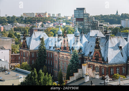 Bydgoszcz in Poland. Panorama view of the city - Stock Photo