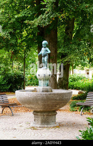 Bubele Brunnen am Augustaplatz in Baden-Baden - Stock Photo