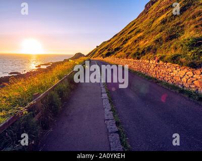 summer sunset giants causeway coastline,Northern Ireland