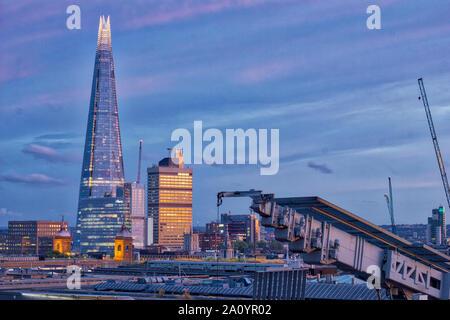 Autumn sunset shining over London landmark, England, United Kingdom , U.K. - Stock Photo