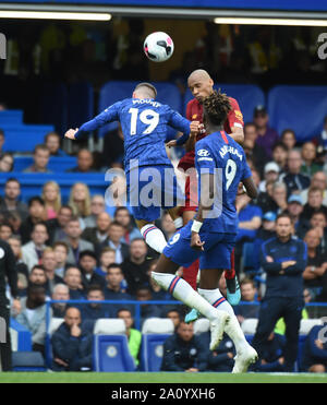 London, UK. 21st Sep, 2019. Fabinho of Liverpool during the Premier League match between Chelsea and Liverpool at Stamford Bridge on September 22nd 2019 in London, England. (Photo by Zed Jameson/phcimages.com) Credit: PHC Images/Alamy Live News - Stock Photo