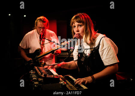Copenhagen, Denmark. 21st, September 2019. The British band Penelope Isles performs a live concert at Ideal Bar in Copenhagen. (Photo credit: Gonzales Photo - Christian Hjorth). - Stock Photo