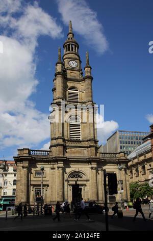 Glasgow Scotland St George's Tron Church on West George Street and Buchanan Street
