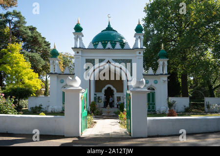 The Shah Jahan Mosque in Woking, Surrey, UK, the first purpose-built mosque in the UK. It was built in 1889, and is a grade I listed building. - Stock Photo