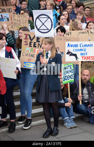 School Strike for Climate, Norwich, UK, Friday 20 September 2019 - Stock Photo