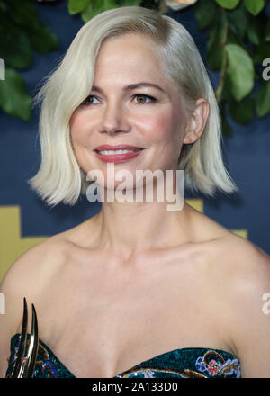 LOS ANGELES, CALIFORNIA, USA - SEPTEMBER 22: Michelle Williams arrives at the Walt Disney Television 2019 EMMY Award Post Party held at Otium on September 22, 2019 in Los Angeles, California, United States. (Photo by David Acosta/Image Press Agency) - Stock Photo