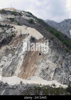 Marble quarry, Carrara, Tuscany, Italy, Europe Stock Photo