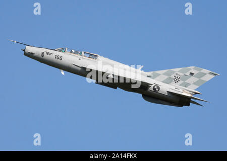Croatian Air Force MiG-21UM. - Stock Photo