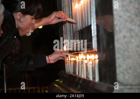 Buenos Aires, Argentina - October 27 2010: Nestor Kirchner dies in Argentina, argentinians pay tribute to the former President Nestor Kirchner in the - Stock Photo