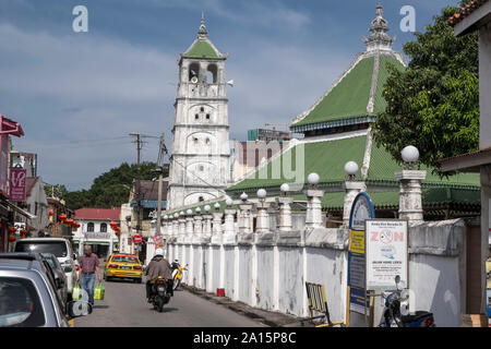 Malaysia, Malacca City: Kampung Kling Mosque The city is registered as a UNESCO World Heritage Site - Stock Photo