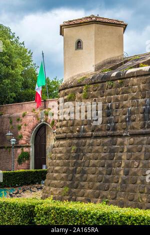 the 14th century fortezza da basso, florence, tuscany, italy - Stock Photo