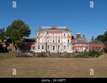 LONDON, UK - SEPTEMBER 20, 2019: York House and Sunken Garden in Twickenham, London. Built in 1661 it is now the Council Offices for Richmond upon - Stock Photo