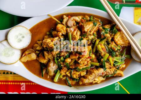 Typical Burmese Food (Fish Curry), Nyaung Shwe, Lake Inle, Shan State, Myanmar - Stock Photo