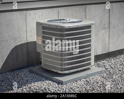 High efficiency modern AC-heater unit, energy save solution - Stock Photo