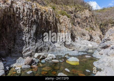 Somoto canyon  Madriz department  in Nicaragua - Stock Photo