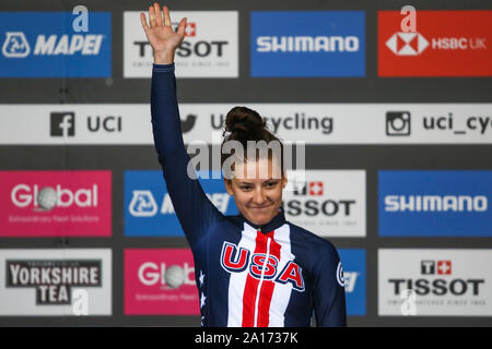 Harrogate, UK. 24th September 2019. 2019 UCI Road World Championships Womens Elite Individual Time Trial. September 24, 2019 Credit Dan-Cooke/Alamy Live News - Stock Photo