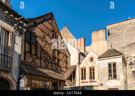 Edmond Fallot La Moutarderie, mustard mill,  Boutique, Dijon, Burgundy, France - Stock Photo