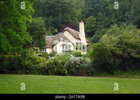 Thatched cottage in Selworthy Village. Exmoor National Park. Somerset. UK.