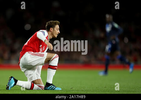 London, UK. 24th Sep, 2019. English Football League Cup, Carabao Cup, Arsenal Football Club versus Nottingham Forest Football Club; Mesut Ozil of Arsenal - Strictly Editorial Use Only. No use with unauthorized audio, video, data, fixture lists, club/league logos or 'live' services. Online in-match use limited to 120 images, no video emulation. No use in betting, games or single club/league/player publications Credit: Action Plus Sports Images/Alamy Live News - Stock Photo