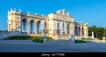 Vienna, Austria - September 3, 2019: Schönbrunn Palace Garden Gloriette - Vienna, Austria - Stock Photo