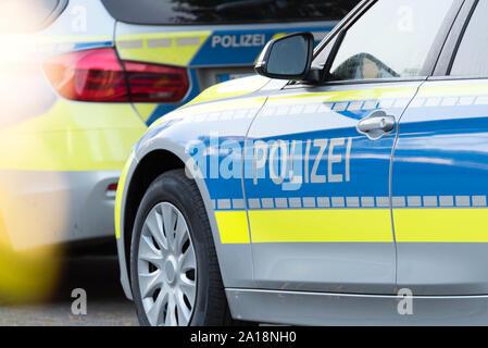 Police car in Germany - Stock Photo