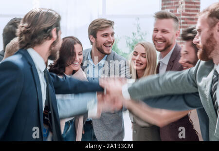 close up. a group of corporate employees showing their unity - Stock Photo