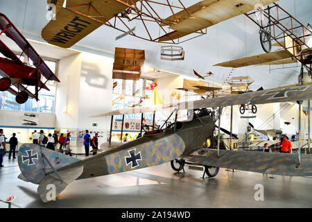 Munich / Germany - June 19, 2011: field of historic aviation in the German Museum (Deutsches Museum) in Munich, Germany. - Stock Photo