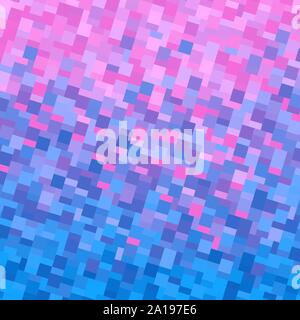 Background with square pixel texture. Vector illustration. Gradient blue pink. - Stock Photo