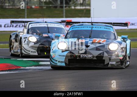 The #77 Dempsey – Proton Racing Porsche 911 RSR of Christian Ried, Riccardo Pera and Matt Campbell in the FIA World Endurance Championship - Stock Photo