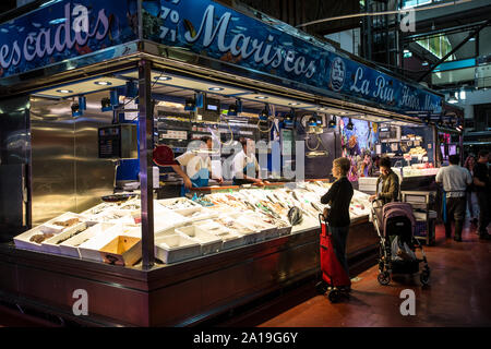 La Latina market, Mercado de la Cebada, Madrid Madrid, Spain - Stock Photo