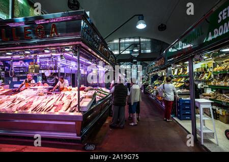 La Latina market, Mercado de la Cebada, Madrid Madrid, Spain - Stock Photo