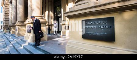 entrance area of frankfurt stock exchange