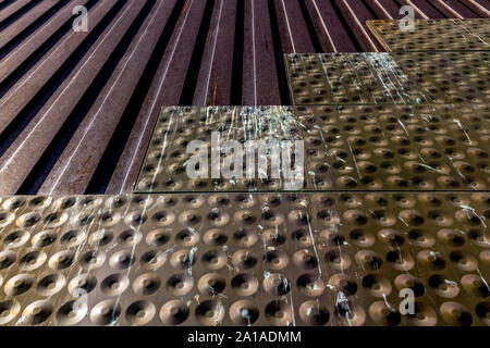 Metal Patterns on Old Building - Stock Photo