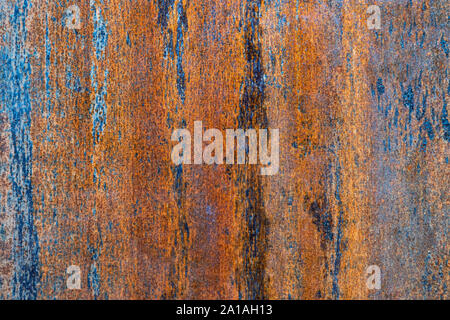 Abstract pattern of a rusty metal plate - Stock Photo