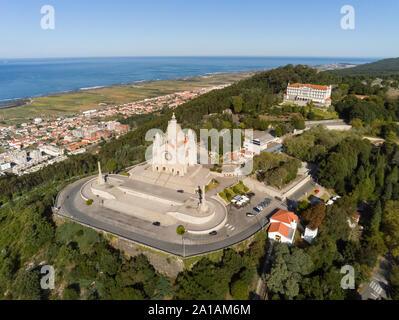 Santuário do Sagrado Coração de Jesus de Santa Luzia (Sanctuary of Santa Luzia and the Sacred Heart of Jesus), Viana do Castelo, Portugal - Stock Photo
