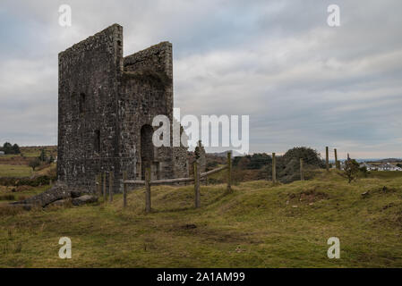 Bellingshams Shaft Engine House of the Wheal Jenkin mine on Caradon Hill, Minions, Cornwall - Stock Photo