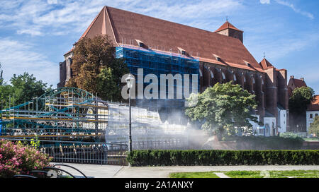Roman Catholic parish church NMP on the Sand in Wroclaw, Poland - Stock Photo