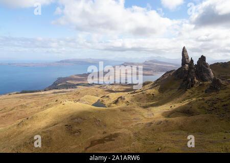 old man of storr on skye island scotland - Stock Photo