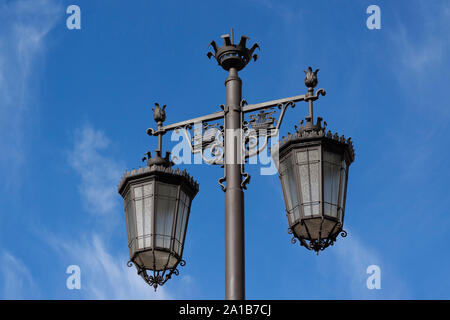 Old street lamp in Lisbon, Portugal - Stock Photo