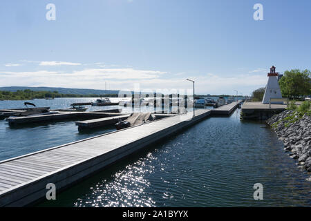 Canada Ontario Collingwood, at the Yacht Club from the Collingwood Marina - Stock Photo