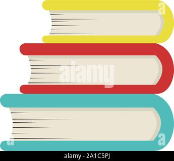 Books, illustration, vector on white background. - Stock Photo