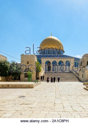 Israel, Jerusalem District, Jerusalem. Dome of the Rock on Temple Mount. - Stock Photo