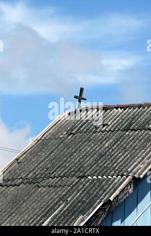 Zoomed shot of holy building from a distance - Stock Photo