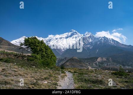 Mount Nilgiri, Lower Mustang, Nepal - Stock Photo