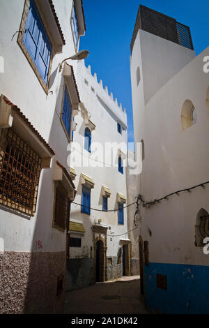 Traditional houses in Essaouira, Morocco, Africa - Stock Photo