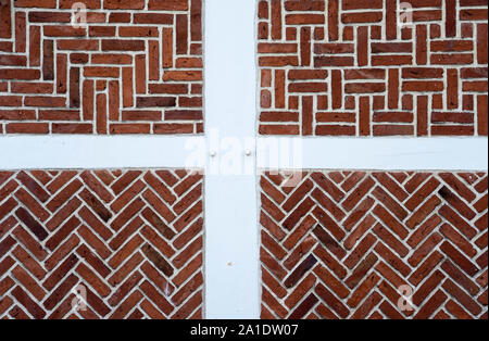Detail of a historic timber-framed house, Altes Land area, Germany, Europe - Stock Photo
