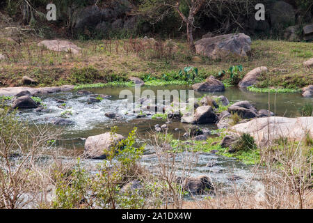 Umgeni river flowing through the valley of a thousand hills in kwazulu-natal, south africa - Stock Photo